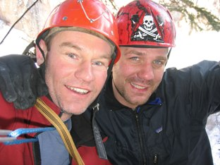 Graham and Dan Ice belay