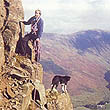 Jim and Ben scrambling above Buttermere